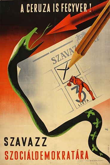 The Pencil is a Weapon! Vote for the Social Democrats! (1947)