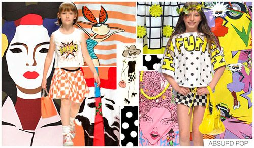 ABSURD POP Remember how kitsch played into last season? Well, for Spring Summer 15, we take a more absurd (and pop art) spin to it. Bold and simple pri...
