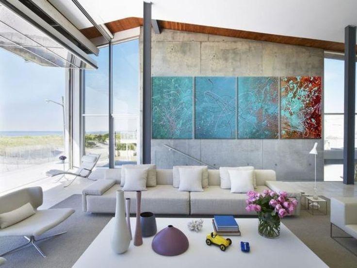 Beach House Living Room With A Glass Airport Hangar Door. Part 48