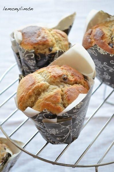 Muffins de arándanos y crema de mascarpone