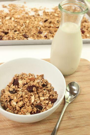 Vanilla Cherry Almond Granola. Vegan & Gluten-free!