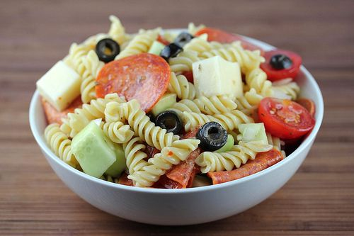 pepperoni pasta salad - one of my favorite meals to make in the summer for picnics since I was a teenager