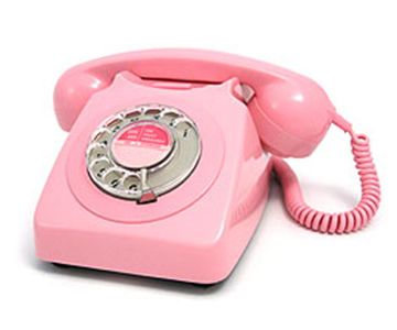 pink rotary phone. I used to have one of these...got it at a garage sale when I was 16.