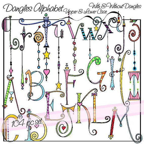 Dangles Alphabet Upper & Lower Case Personal and by atelieroz                                                                                                                                                                                 More