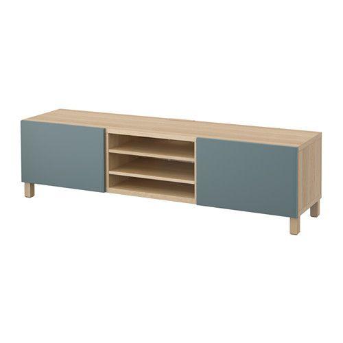 Besta Ikea Beispiele : IKEA  BESTÅ, TVBank mit Schubladen, Eicheneffekt weiß lasiert