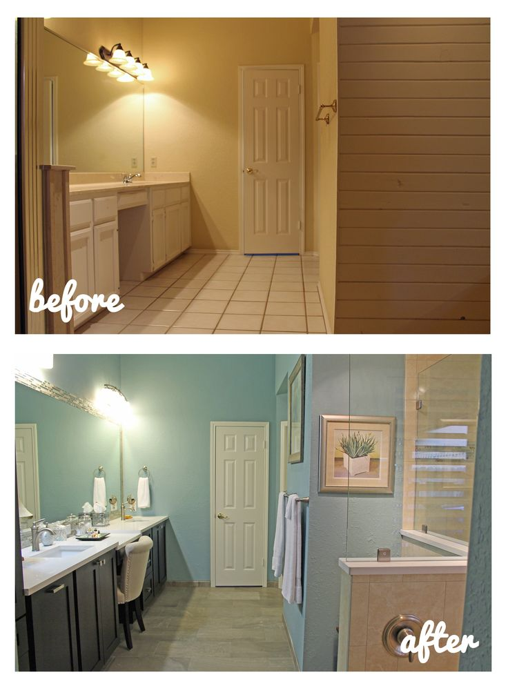 17 best images about before and after remodeling on for Total bathroom remodel