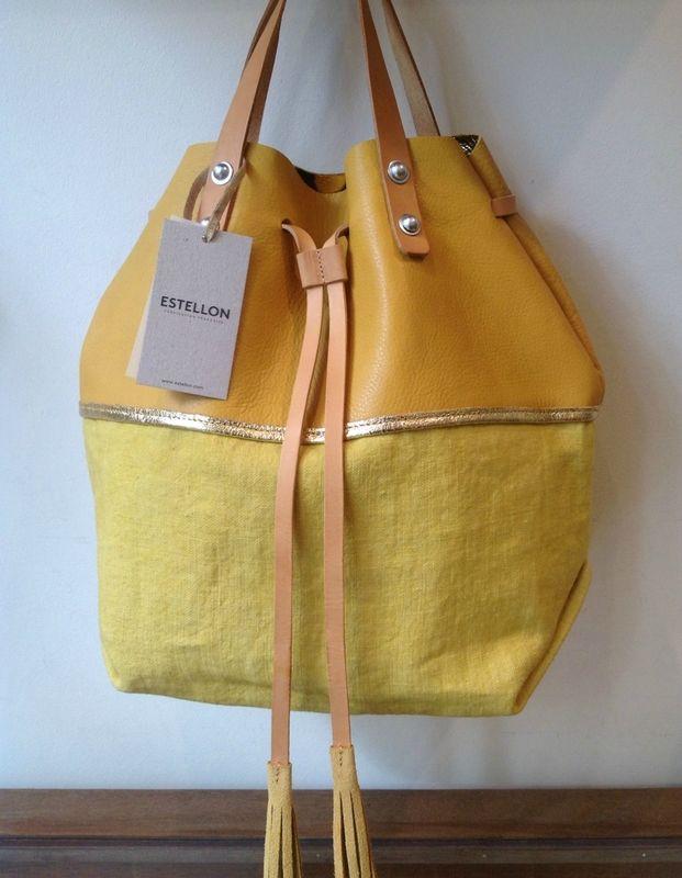 sac Bonnie Venice chez Estellon. L:35cm / P:17cm. H avec les anses: 47cm