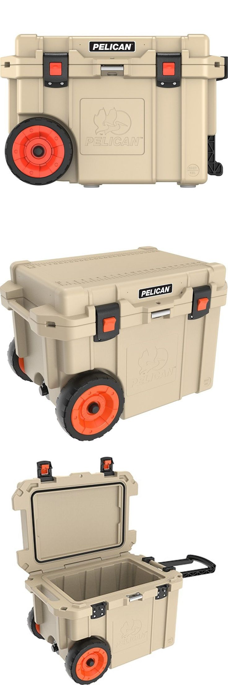 Camping Ice Boxes and Coolers 181382: Pelican 45Qw-2-Tan 45 Qw Wheeled Elite Cooler Tan -> BUY IT NOW ONLY: $339.99 on eBay!