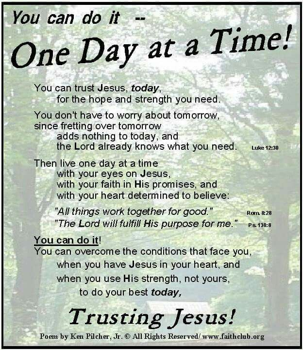 One Day at a Time!