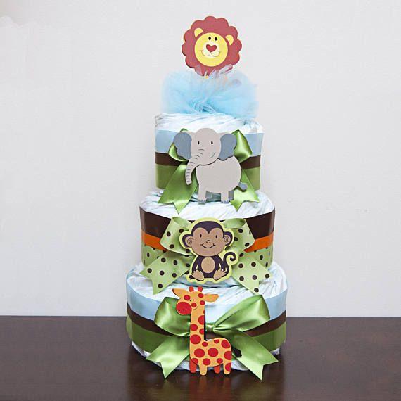 Jungle Diaper Cake Boys Jungle Three Tier Diaper Cake Safari