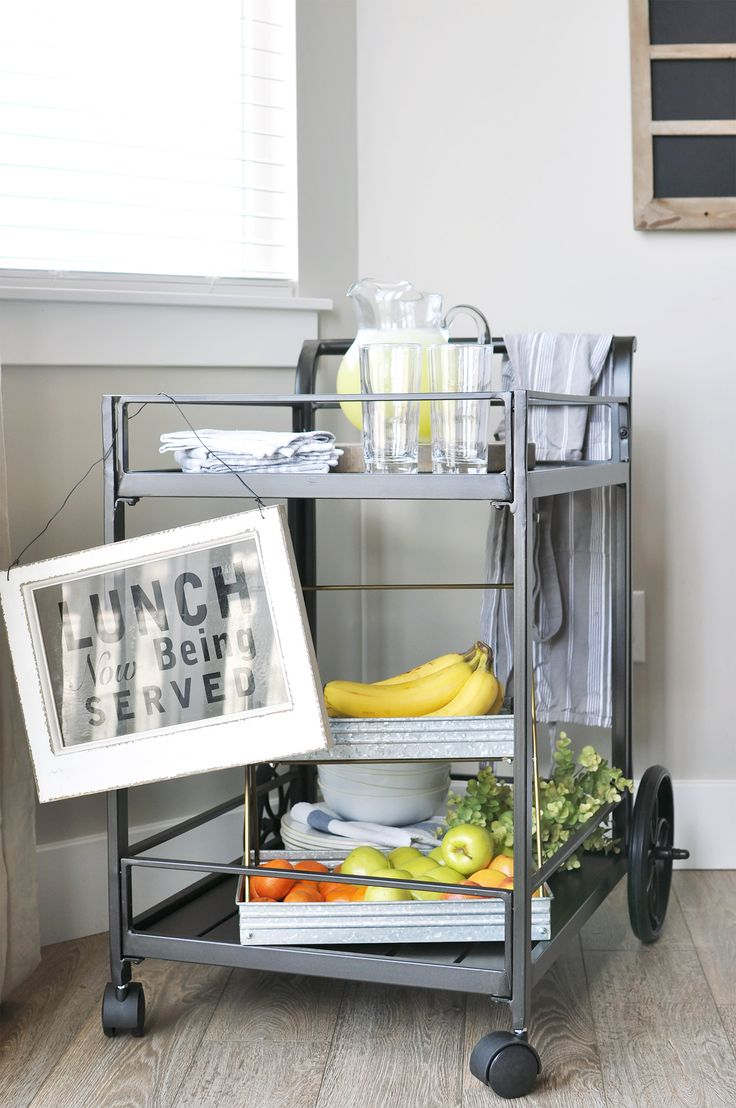 Industrial style Outdoor Serving Cart, perfect for those days in the summer sun! #sponsored