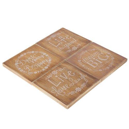 Resin Coaster Set of 4 - Woody RRP $23