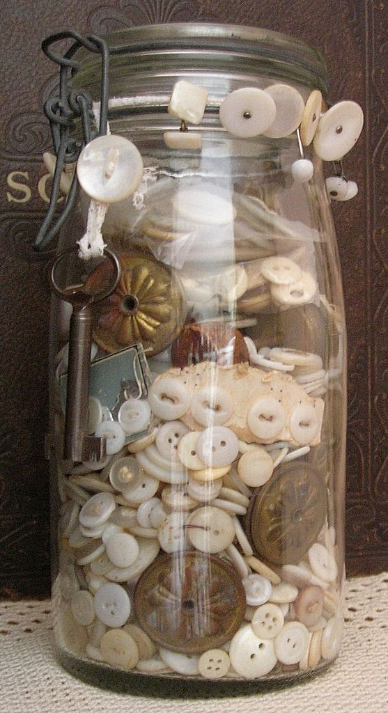Jar- White Button With Knobs | Flickr - Photo Sharing!