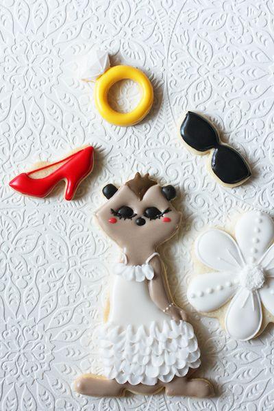 アイシングクッキー春のおめかし動物達 : coupe-feti