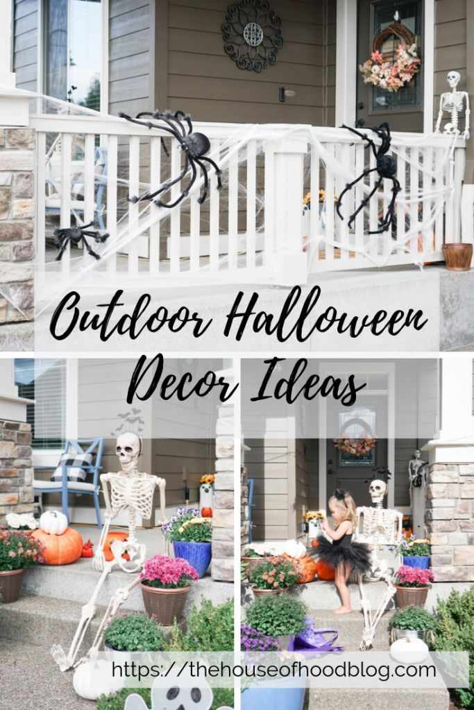 Simple And Budget Friendly Outdoor Halloween Decoration Ideas Halloween Outdoor Decorations Outdoor Halloween Halloween Decorations