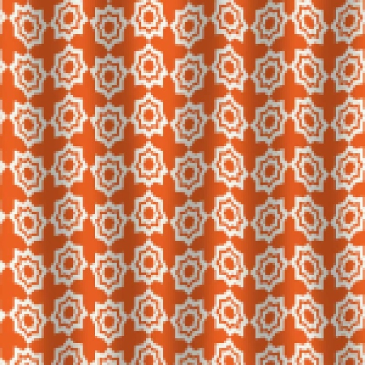 Khristian A Howell Moroccan Mirage Orange Shower Curtain