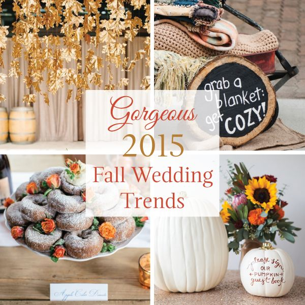 Gorgeous 2015 Fall Wedding Trends | LinenTablecloth Blog