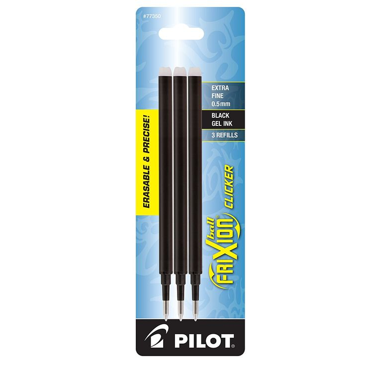 Pilot FriXion Gel Ink Pen Refill, 3-Pack for Erasable Pens, Extra Fine Point, Black Ink (77350): Amazon.ca: Office Products