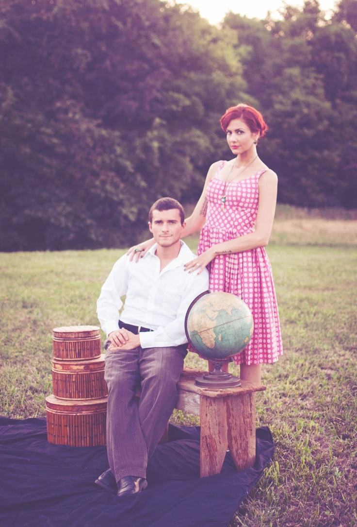 St. Louis Area Photographer::Robert and Erica's Stylized Session | Vintage Suitcase Photography    50's styled photo shoot for an anniversary.