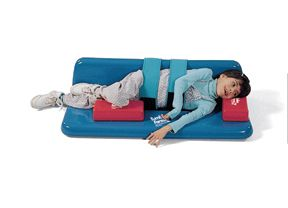 TumbleForms Sidelyer with Backrest and Positioning Straps - prohealthcareproducts.com #positioning #pediatricphysicaltherapy #sidelying #physicaltherapy