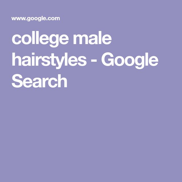 college male hairstyles - Google Search