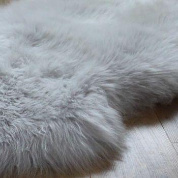 best 25+ grey sheepskin rug ideas on pinterest | white bed