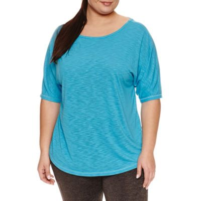 Xersion Short Sleeve Scoop Neck T-Shirt-Plus - JCPenney