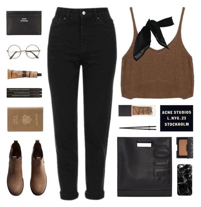it's you by nothing-like-the-rain on Polyvore featuring polyvore fashion style Topshop H&M 3.1 Phillip Lim Royce Leather Acne Studios TC Fine Intimates Casetify ZeroUV NARS Cosmetics Aesop clothing