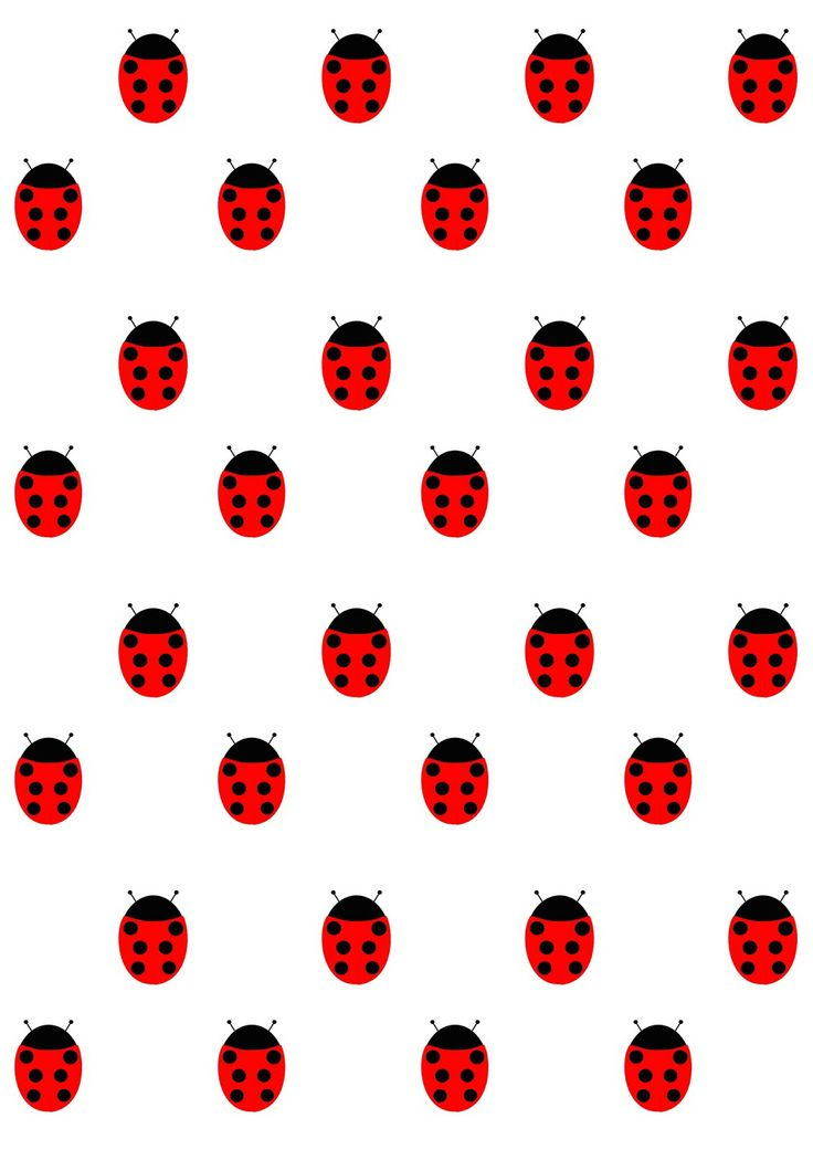 FREE printable ladybug pattern paper (cute nursery and baby shower pattern ^^)