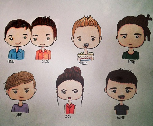 They look so cute when they are drawn like this.They should make one of Tyler, that would be queen
