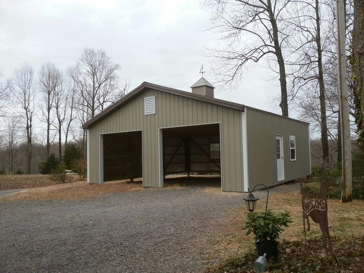 30x30x10 garage national barn for Horse pole barn