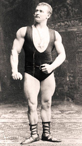 """Eugen Sandow: looks a bit funny with those moustache, but he's been incredibly fit. Most important he is known as a """"father"""" of modern bodybuilding and he was born in Poland (1867 Królewiec)"""