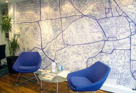 Custom Area Map Wallpaper | Geek Decor