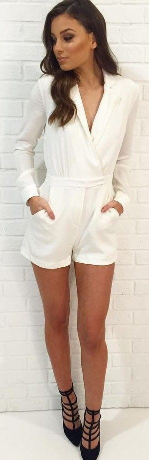 Lovely White Playsuit                                                                             Source