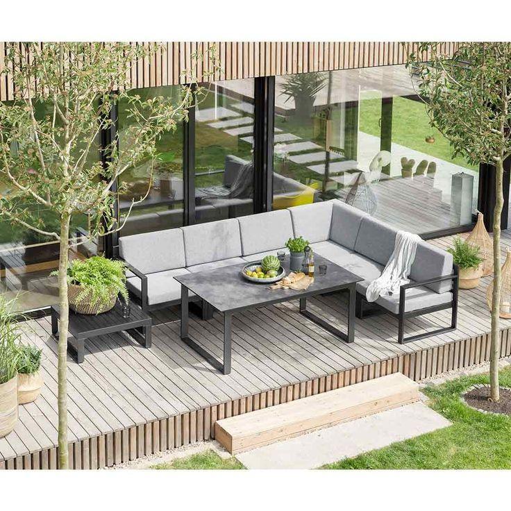 Kettler Ocean Diningecke 8 Teilig Aluminium Inklusive Kissen   Dining  Lounge   Lounge Sets