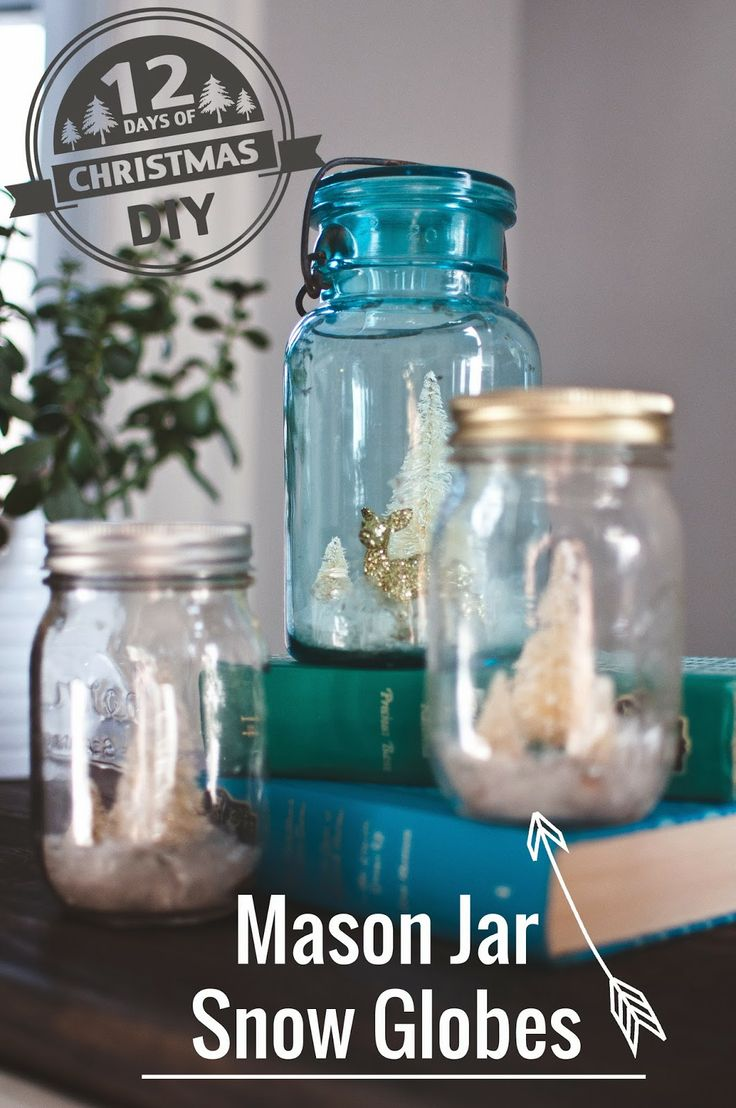 Design for Renters: 12 Days of Christmas DIY   Day 4   Mason Jar Snow Globe