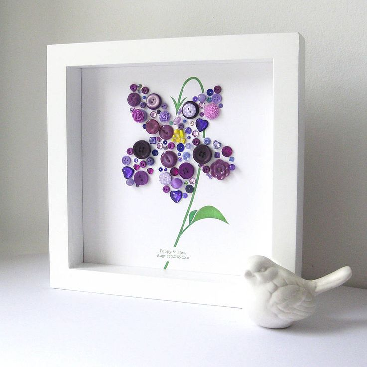 personalised baby girl button violet picture by sweet dimple | notonthehighstreet.com