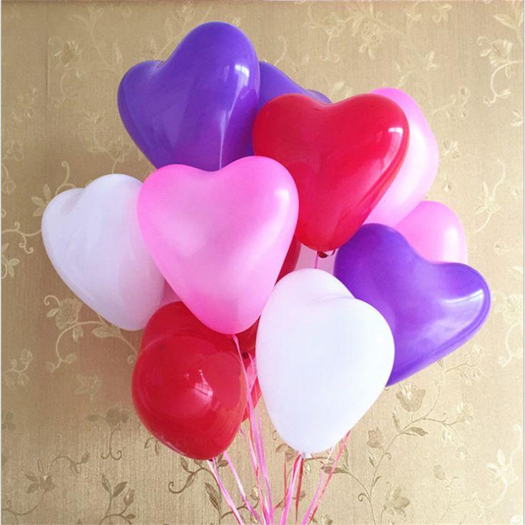 Бесплатная доставка 10pcs10 дюймовый сердце воздушный шар латекса воздушные шары надувные шары свадьбы день рождения украшения плавающей toys #CLICK! #clothing, #shoes, #jewelry, #women, #men
