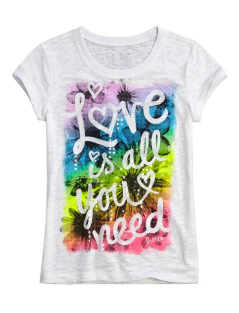 Love Is All You Need Graphic Tee Girls Graphic Tees