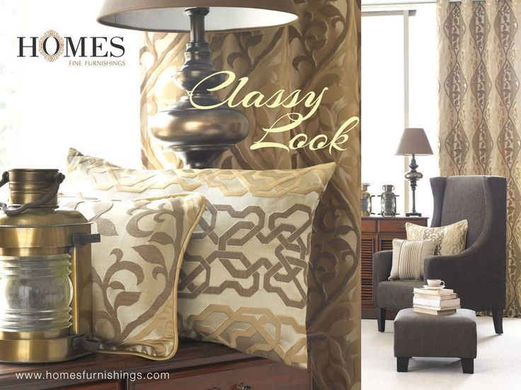 Dreamt of living #Elegant, all possible with #HomesFurnishings who offers diversities in #Style. Explore more on www.homesfurnishings.com #HomeFabrics #Cushions #Curtains #Upholstery #Furnishings #FineFabric #TGIF