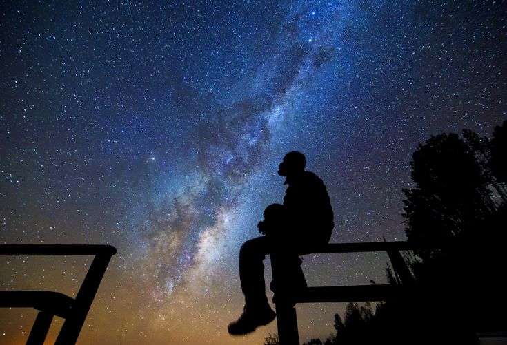 Astrology looking at stars in the Atacama Desert chile