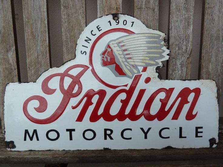 """old Indian , 16"""" porcelain sign heavy convex collectible rar chief motorcycle"""