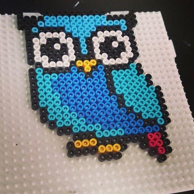 Owl hama beads by xpeachheart