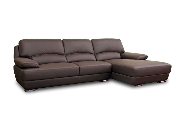 Brown Leather Sofa Sectional With Chaise Cool Design