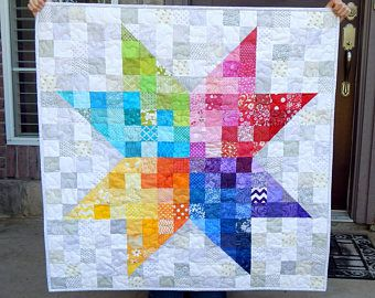 Baby quilt  quilt minky  moderno bambino trapunta  regalo