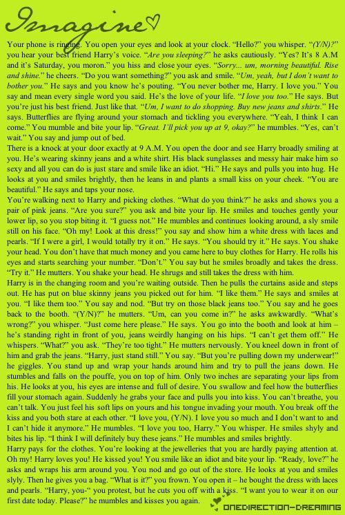 Harry styles imagine.     I'm seriously trying not to smile like an idiot or else my parents will think I'm weird and messe dup