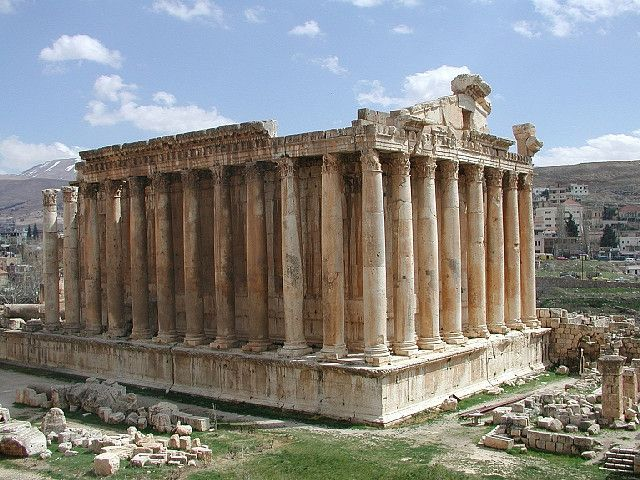 """Baalbek: ""Step back in time and admire soaring Roman columns and well-preserved temples, which are amongst the finest in the world."" Lebanon: the Bradt Guide www.bradtguides.com"