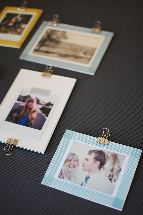 It makes a really easy photo frame.