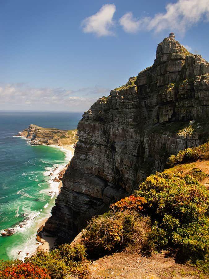 Naturreservatet Cape Point Nature Reserve innehåller vacker natur och ligger en bit från Kapstaden.