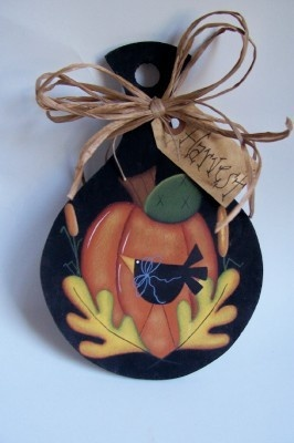 Primitive Fall Mini Noodle BoardHandpainted by Primgal